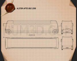 Alstom Aptis Bus 2019 Blueprint