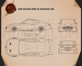 Ford Mustang V8 Supercars 2019 Blueprint