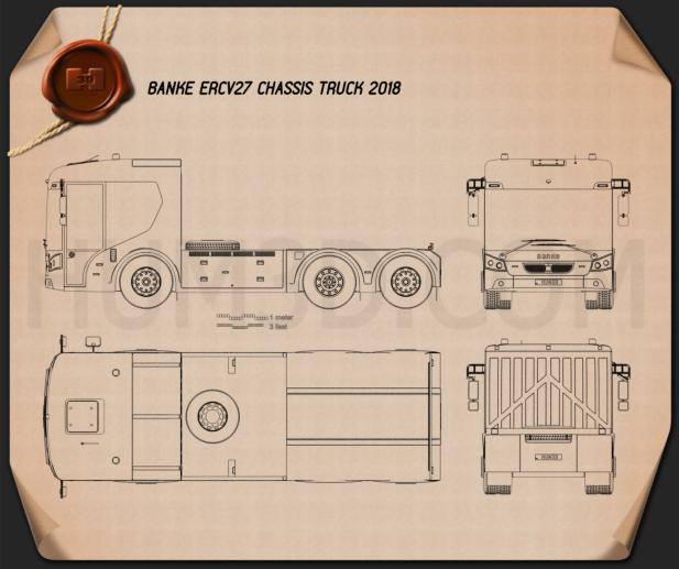 Banke ERCV27 Chassis Truck 2018 Blueprint