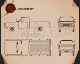 Ford Courier 1977 Blueprint