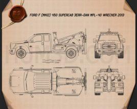 Ford F-450 Super Cab Jerr-Dan MPL-40 Wrecker 2013 Blueprint