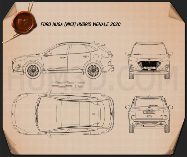 Ford Kuga Hybrid Vignale 2020 Blueprint