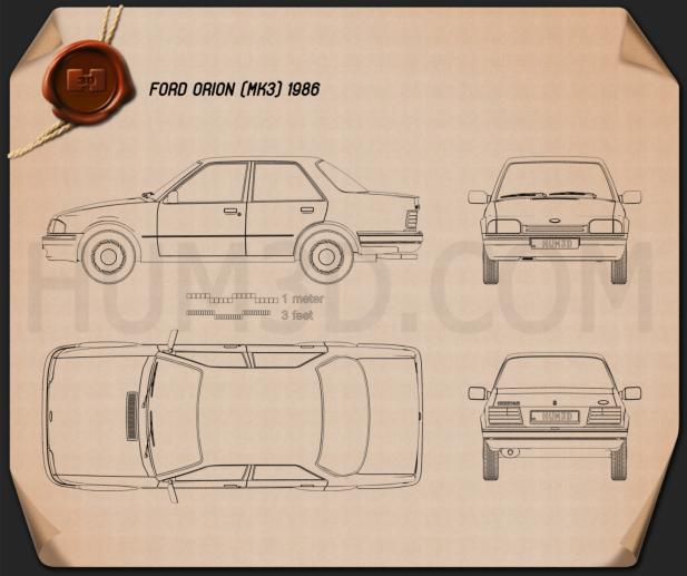 Ford Orion 1986 Blueprint