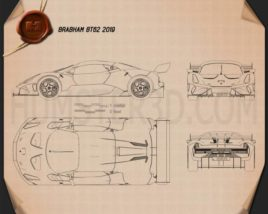 Brabham BT62 2019 Blueprint