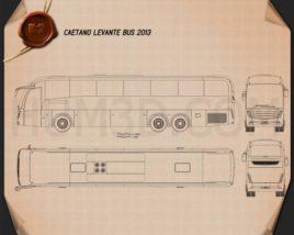 Caetano Levante Bus 2013 Blueprint