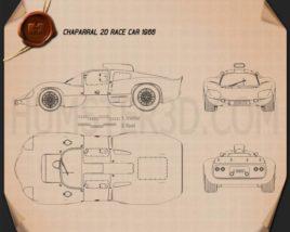 Chaparral 2D Race Car 1966 Blueprint