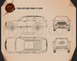 Ford Explorer ST 2020 Blueprint
