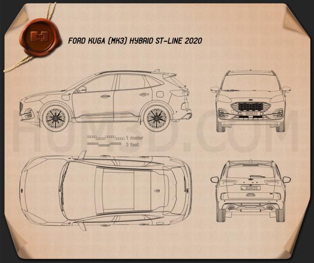 Ford Kuga Hybrid ST-Line 2020 Blueprint