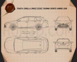 Toyota Corolla Touring Sports Hybrid 2019 Blueprint