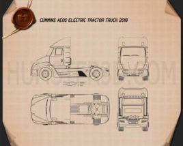 Cummins AEOS electric Tractor Truck 2018 Blueprint