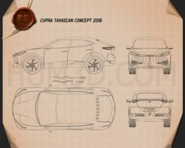 Cupra Tavascan 2019 Blueprint
