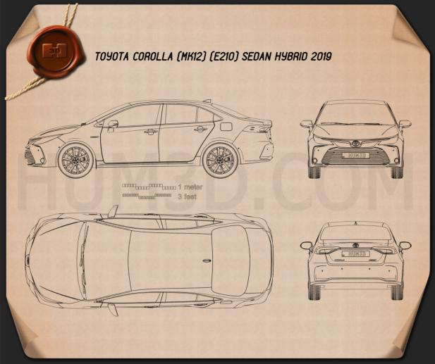 Toyota Corolla Hybrid sedan 2019 Blueprint