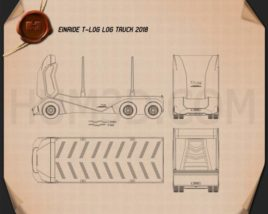 Einride T-log Log Truck 2018 Blueprint