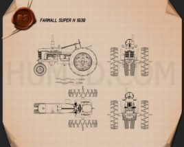 Farmall Super H 1939 Blueprint