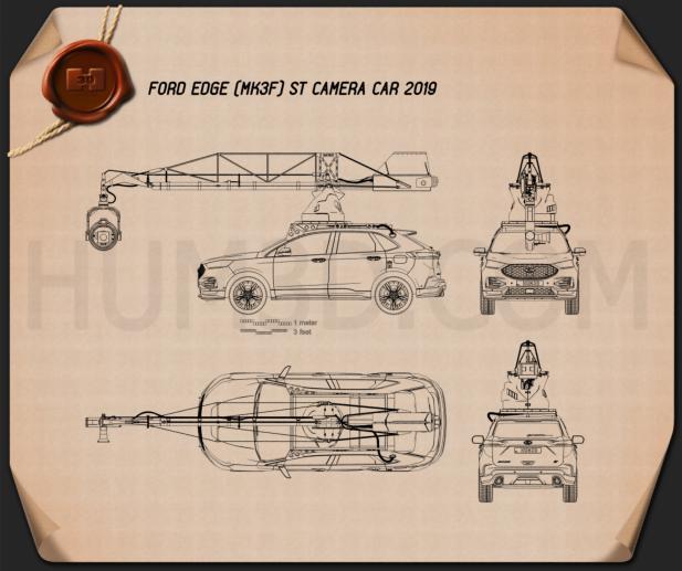 Ford Edge ST Camera Car 2019 Blueprint