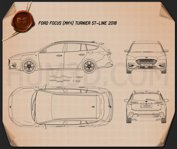 Ford Focus ST-Line turnier 2018 Blueprint