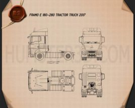 Framo e 180-280 Tractor Truck 2017 Blueprint