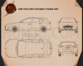 Ford Focus Titanium hatchback 2018 Blueprint