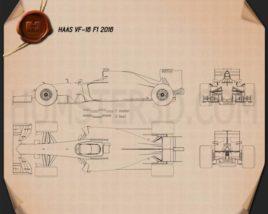 Haas VF-16 F1 2016 Blueprint