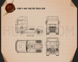 Ford F-Max Tractor Truck 2018 Blueprint