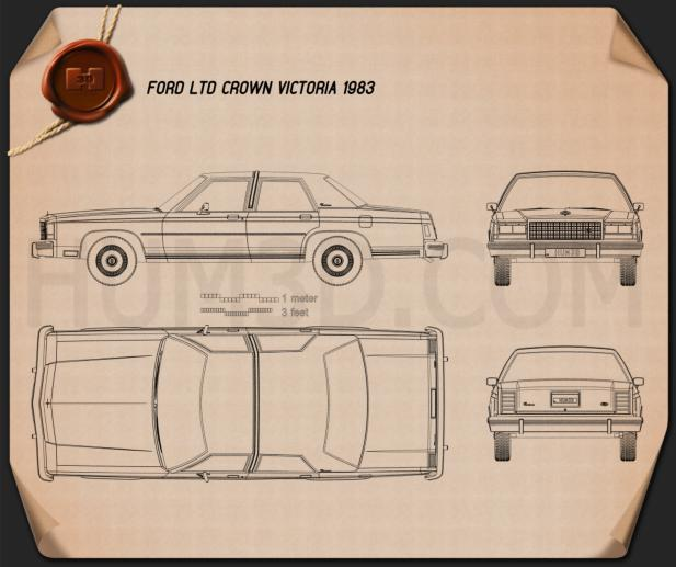 Ford LTD Crown Victoria 1983 Blueprint