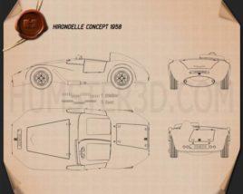 Hirondelle 1958 Blueprint