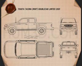 Toyota Tacoma Double Cab Limited 2001 Blueprint