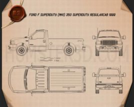 Ford F-350 Super Duty Regular Cab 1999 Blueprint