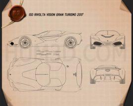 Iso Rivolta Vision Gran Turismo 2017 Blueprint