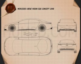 Mercedes-Benz Vision EQS 2019 Blueprint
