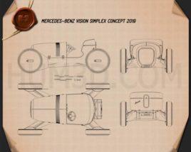Mercedes-Benz Vision Simplex 2019 Blueprint