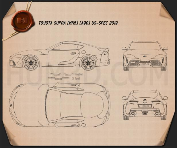 Toyota Supra US-spec 2019 Blueprint