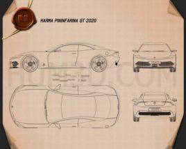 Karma Pininfarina GT 2020 Blueprint