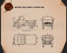 Mercedes-Benz Unimog 421 Mower 1966 Blueprint