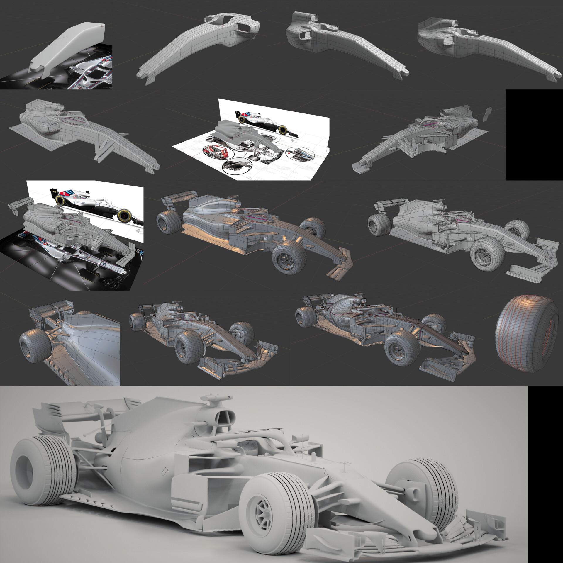 Creating of a f1 car 3d model
