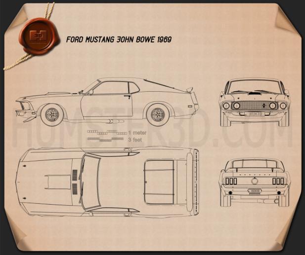 Ford Mustang John Bowe 1969 Blueprint
