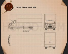 Leyland FG Box Truck 1968 Blueprint