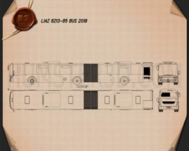 LiAZ 6213-65 Bus 2018 Blueprint