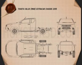 Toyota Hilux Extra Cab Chassis 2015 Blueprint