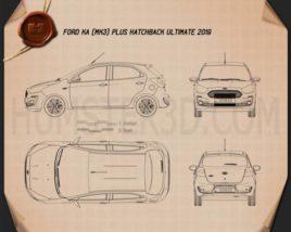 Ford Ka plus Ultimate hatchback 2019 Blueprint
