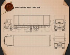 Lion Electric 8 Box Truck 2019 Blueprint