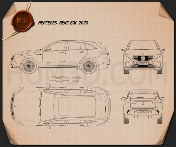 Mercedes-Benz EQC 2020 Blueprint
