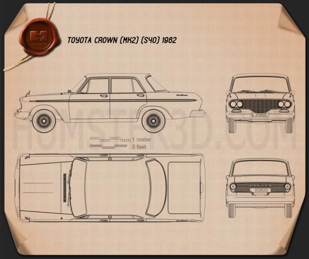 Toyota Crown 1962 Blueprint