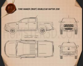 Ford Ranger Double Cab Raptor 2018 Blueprint