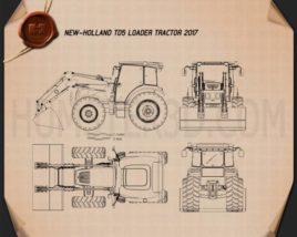 New Holland TD5 Loader Tractor 2017 Blueprint