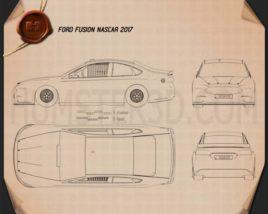 Ford Fusion NASCAR 2017 Blueprint