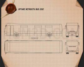 Optare MetroCity Bus 2012 Blueprint