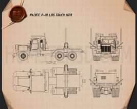 Pacific P-16 Log Truck 1978 Blueprint