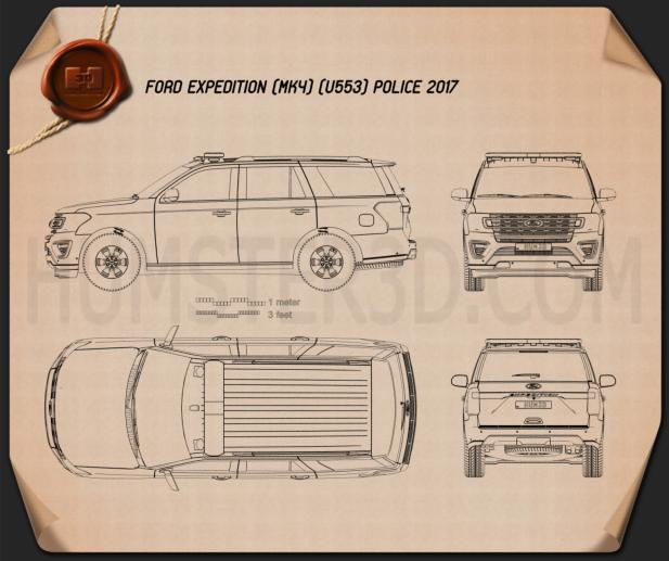 Ford Expedition Police 2017 Blueprint