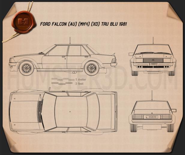 Ford Falcon Tru Blu 1981 Blueprint